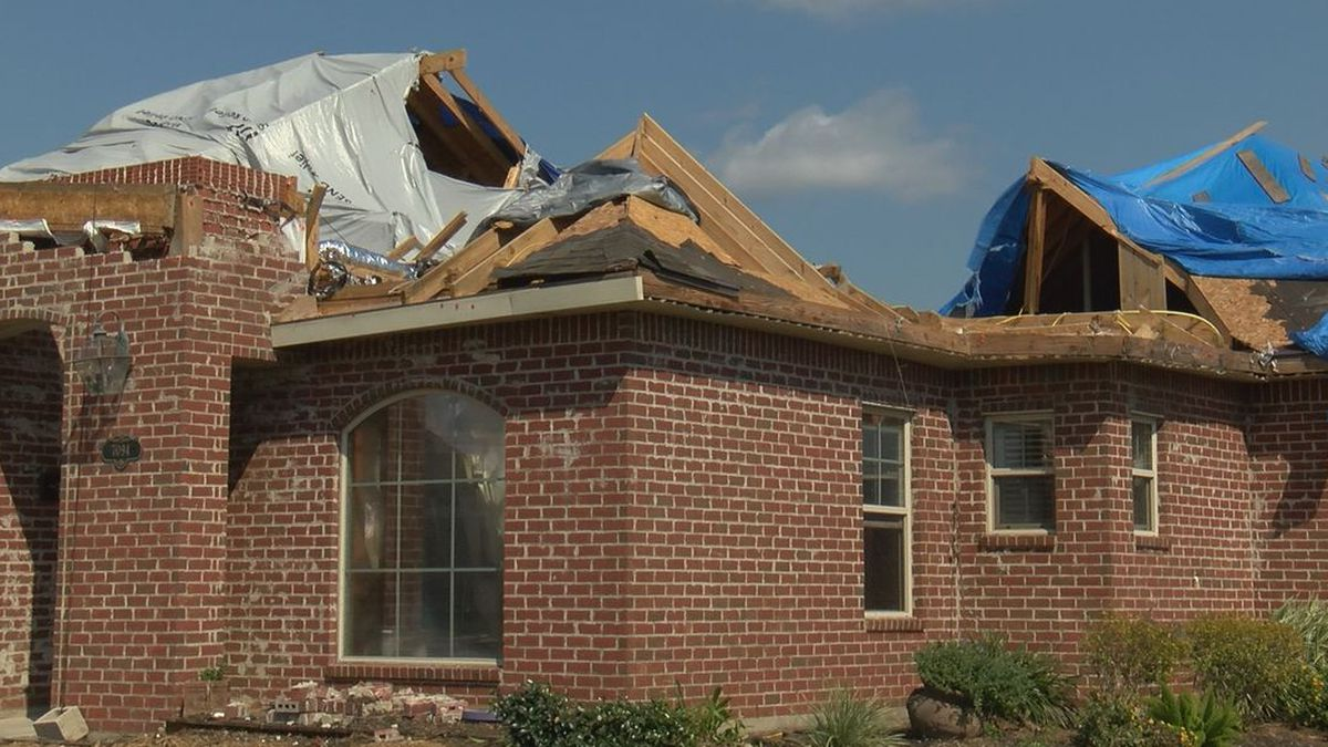 Damage in Lake Charles, La. from Hurricanes Laura and Delta