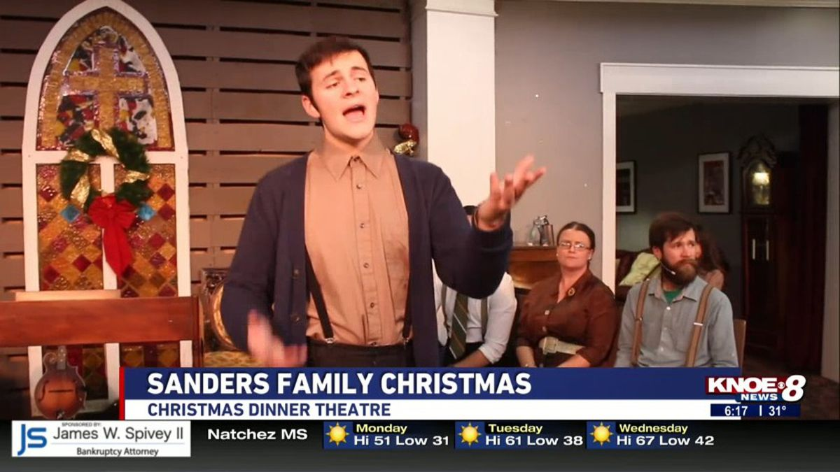 "Strauss Theatre Center presents the ""Sanders Family Christmas"" musical this holiday season. (KNOE) -"