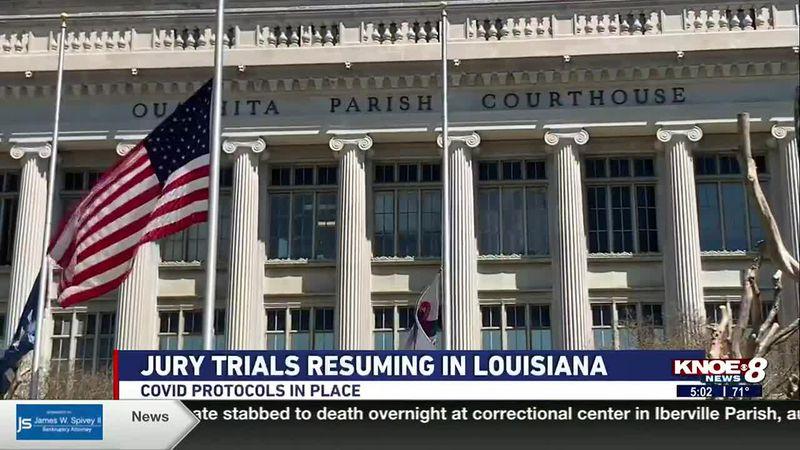 Jury trials will resume in Louisiana starting April 1, 2021.