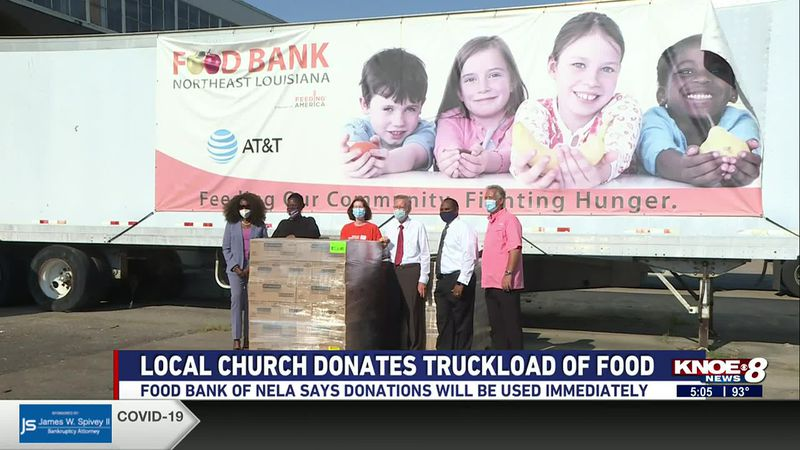The Church of Jesus Christ of Latter-Day Saints donated a truckload of nonperishable food items.