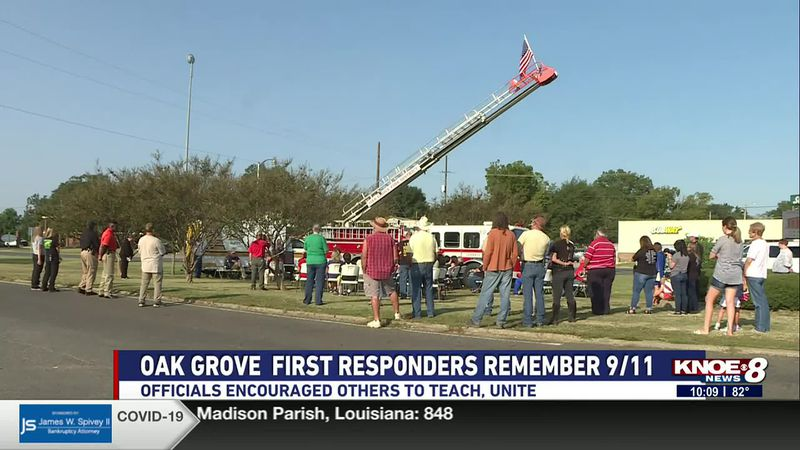 The town of Oak Grove and West Carroll Parish first responders held a remembrance ceremony...