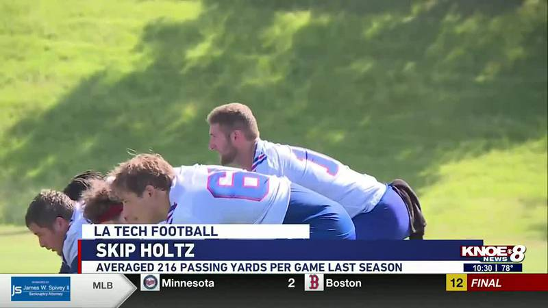 LA Tech transfer quarterback Austin Kendall fights for the starting position.