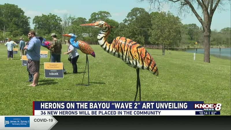 36 new herons will be displayed in the community.