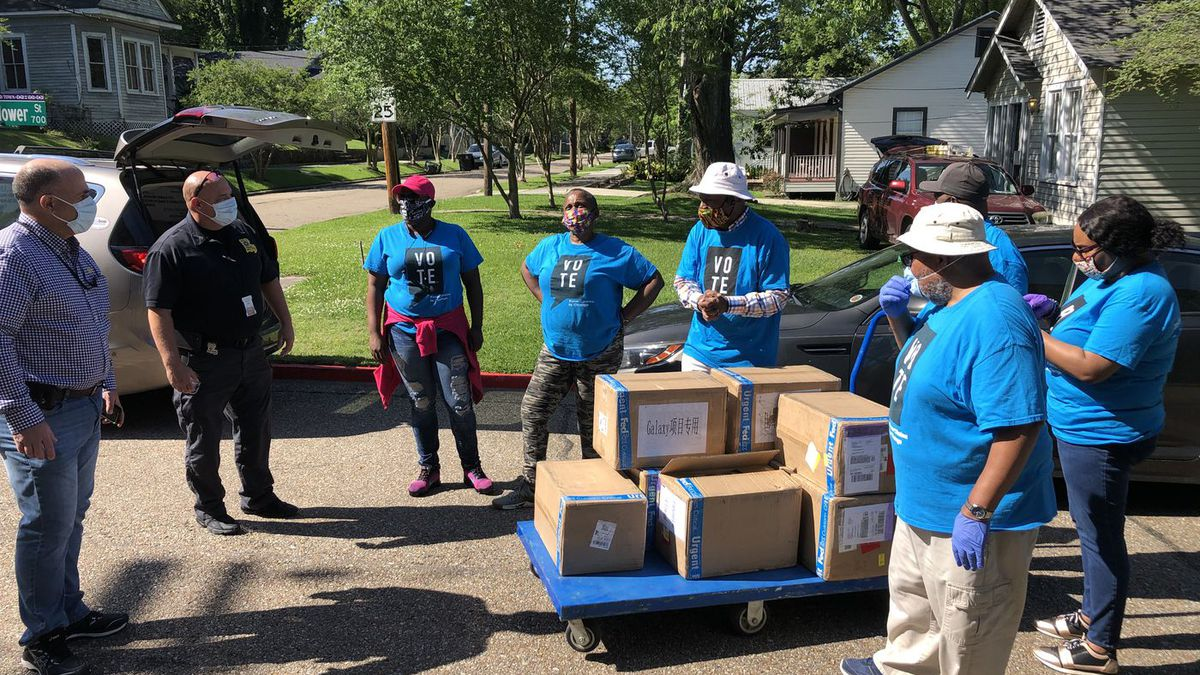 Former inmates spent time Friday, April 24 giving masks away to current inmates at prisons and...
