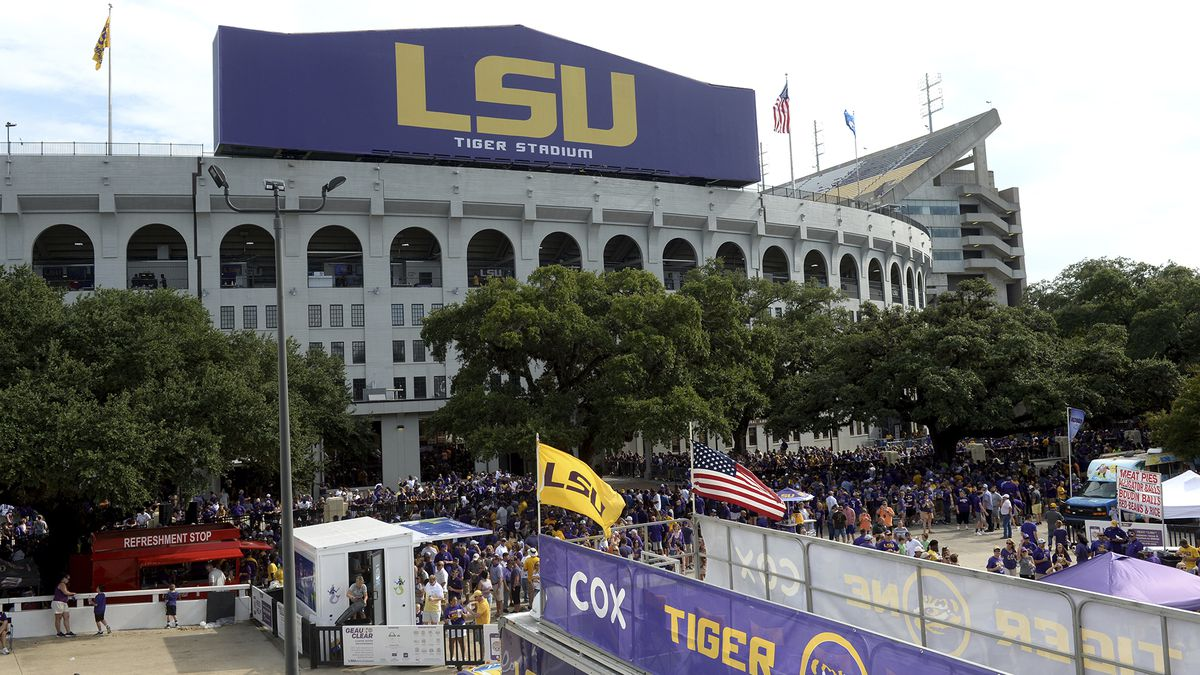 LSU's Tiger Stadium before an NCAA football game between LSU and Northwestern State Saturday in...