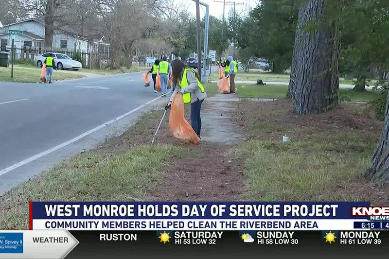 The City of West Monroe, Mayor Staci Mitchell, members of West Monroe AmeriCorps and local city...