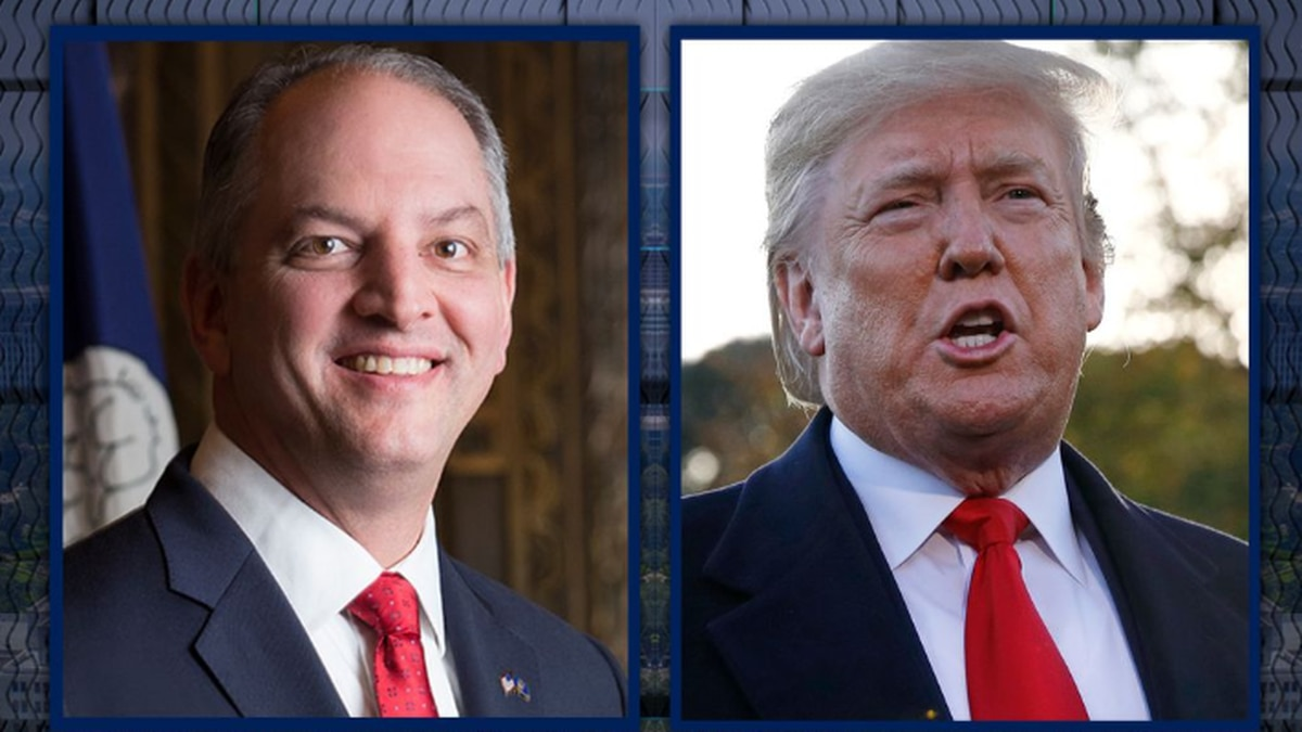 President Donald Trump and Governor John Bel Edwards will battle for votes in dueling campaign events in northern Louisiana Thursday, Nov. 14. (Source: WAFB/AP)