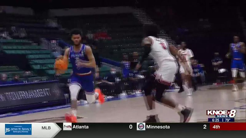 The Louisiana Tech men's basketball team advances to the Final Four of the NIT in Frisco, TX.