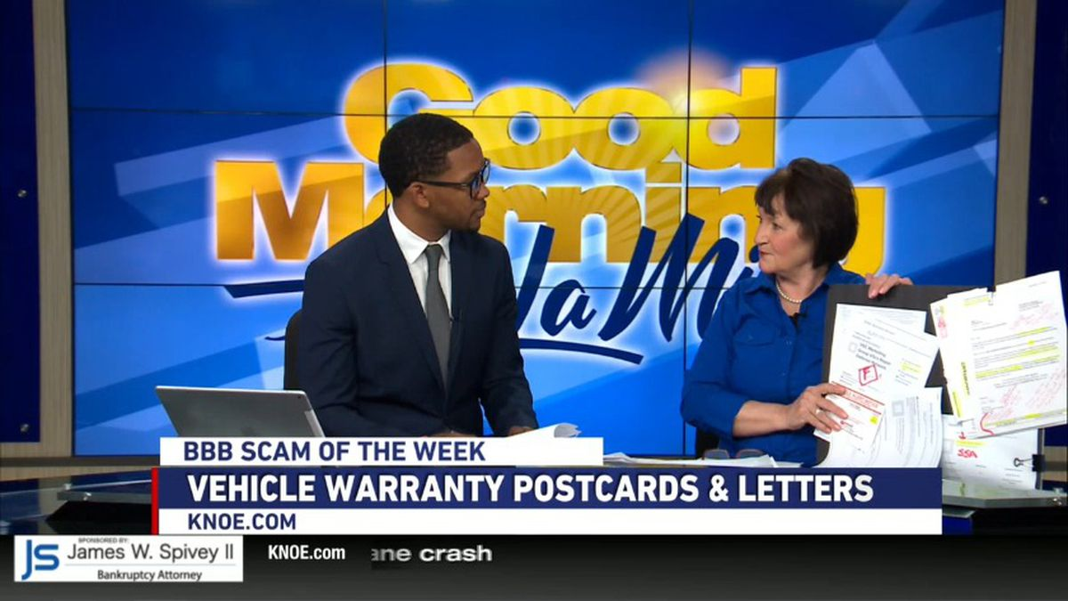 Joann Deal from BBB joins us to discuss the latest scams on vehicle warranty postcards and...