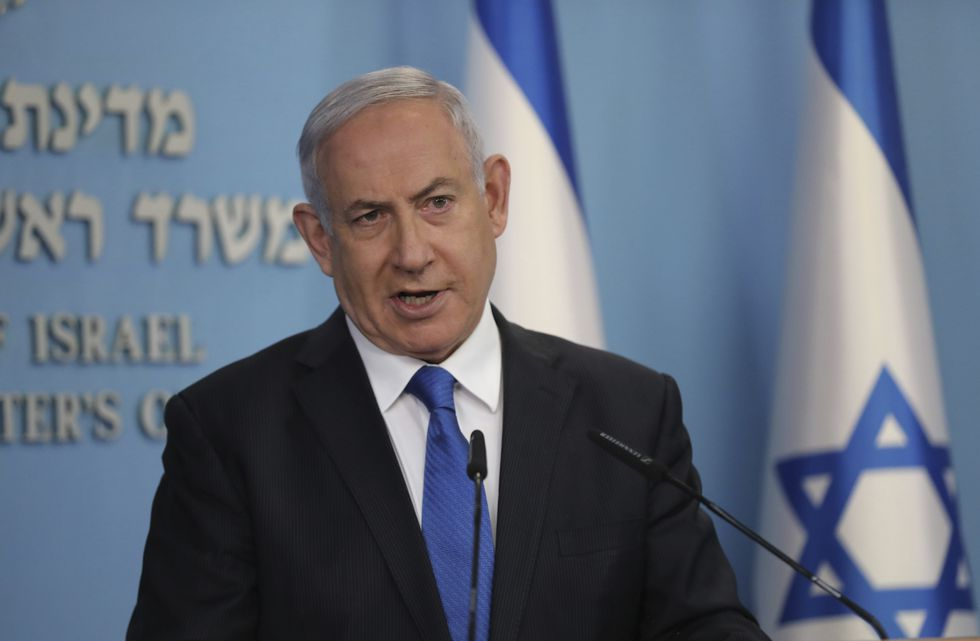 "Israeli Prime Minister Benjamin Netanyahu announces full diplomatic ties will be established with the United Arab Emirates, during a news conference on Thursday, Aug. 13, 2020 in Jerusalem.  In a nationally broadcast statement, Netanyahu said the ""full and official peace"" with the UAE would lead to cooperation in many spheres between the countries and a ""wonderful future"" for citizens of both countries."