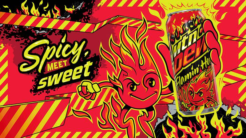 Mountain Dew Flamin' Hot will be available Aug. 31 for a limited time only.