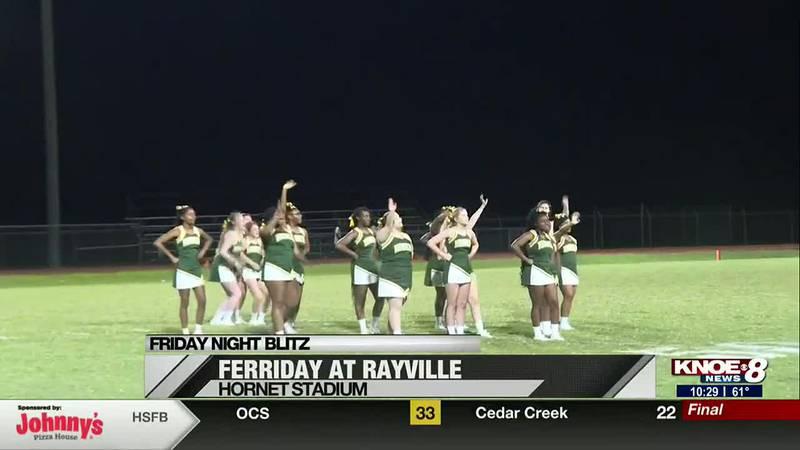 Cheerleaders at Ferriday, Rayville game
