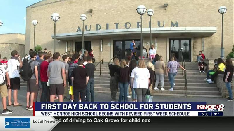 West Monroe High School revised its first week schedule.