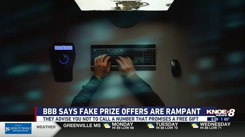 The Better Business Bureau says they're getting more reports of scammers offering fake prizes...