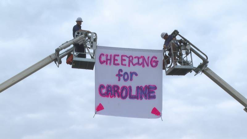 A community in West Monroe united to show their support to local 13-year-old, Caroline Johnson,...