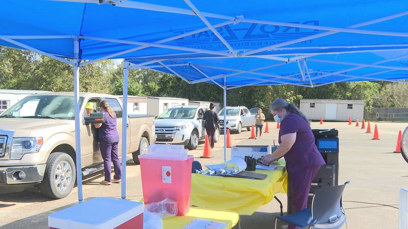 LA Department of Health Flu Shot Clinic in Jena, LA is helping to slow the impact of the flu...
